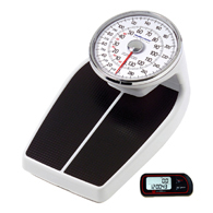 Health o meter 160KL Mechanical Floor Scale and FREE Pedometer