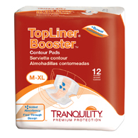 Tranquility 3096 TopLiner Booster Contour Pad Large Diaper 120/Case