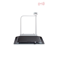 Seca 676 Digital Wheelchair Scale w/ Hand Rail & Wireless Transmission