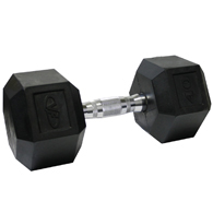 Valor Fitness RH-40 Rubber Hex Dumbbell-40 lb Single