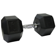 Valor Fitness RH-55 55lb Rubber Hex Dumbbell-Single
