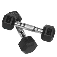 Valor Fitness RH Rubber Hex Dumbbell-Pair